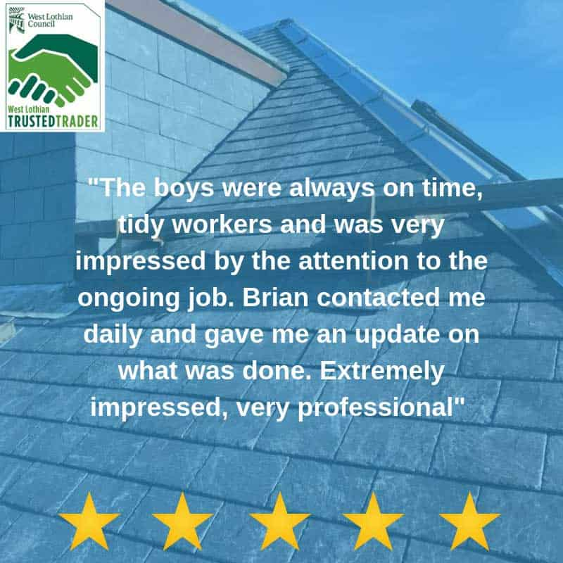 5 stars roofer review